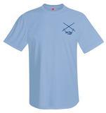 Mahi Fishing Performance Dry-Fit Short Sleeve Light Blue Shirt (Front)