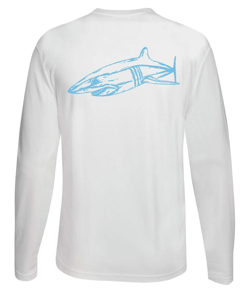 Mako Shark Performance Dry-Fit Long Sleeve - White