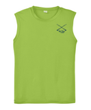Performance Sleeveless Reel Fishy Tarpon Tee - Lime Green (front)