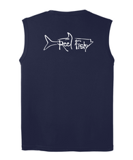 Performance Sleeveless Reel Fishy Tarpon Tee - Navy