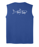 Performance Sleeveless Reel Fishy Tarpon Tee - Royal Blue