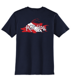 "Hogfish T-shirt with ""Reef Hog"" Dive Logo -Navy Reel Fishy Fishing Tee"