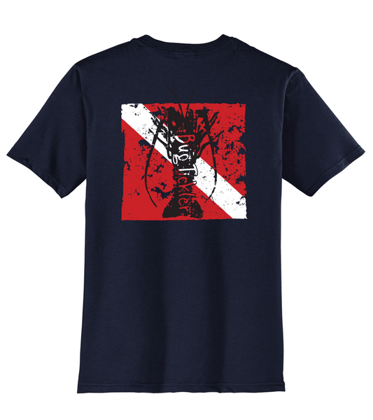 "Lobster ""Bug Tickler"" Dive Reel Fishy t-shirt - Navy"