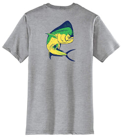 Mahi Fishing Cotton Crew T-Shirt by Reel Fishy