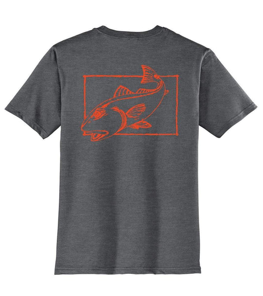 Redfish Cotton T-shirt in Charcoal by Reel Fishy