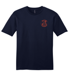 Redfish Cotton T-shirt in Charcoal - Front with Reel Fishy Outfitters logo