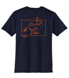 Redfish Cotton T-shirt in Navy by Reel Fishy