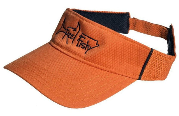 Performance Visors with Reel Fishy Tarpon Logo - Orange