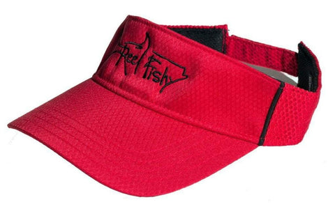 Performance Visors with Reel Fishy Tarpon Logo - Red