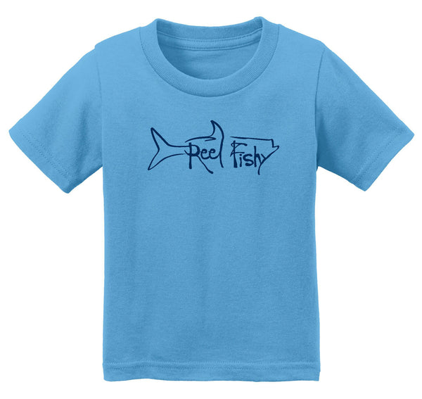Infant Fishing Cotton T-Shirts with Reel Fishy Tarpon Logo