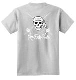 Youth Reel Fishy Pirate Skull & Rods t-shirt - Lt. Gray