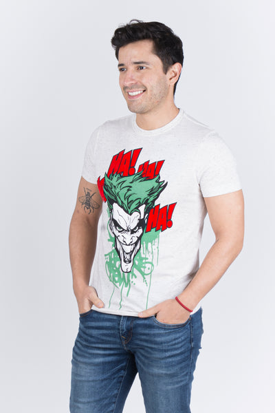 Dc Comics Playera The Joker Avena Jaspe Hombre