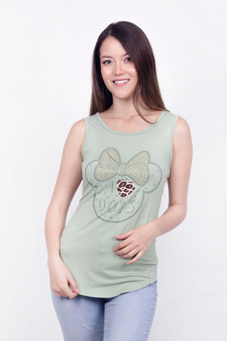 Disney Tank Top Minnie Mouse Verde Mujer
