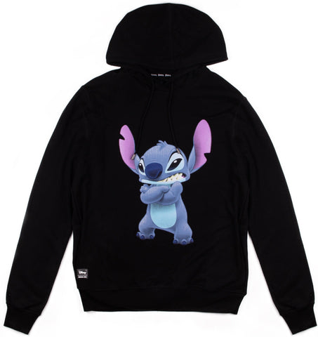 Disney sudadera angry Stitch color negro.