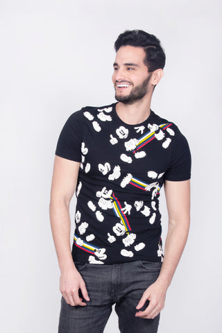 Playera Mickey con Lineas.