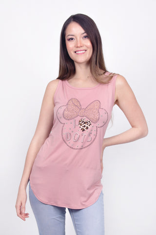 Disney Tank Top Minnie Mouse Palo de Rosa Mujer