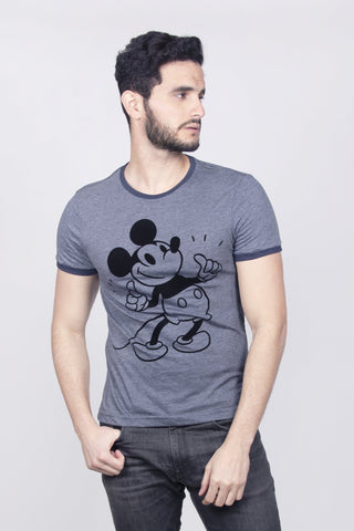 Disney Playera Mickey Mouse Oxford Moteado Hombre