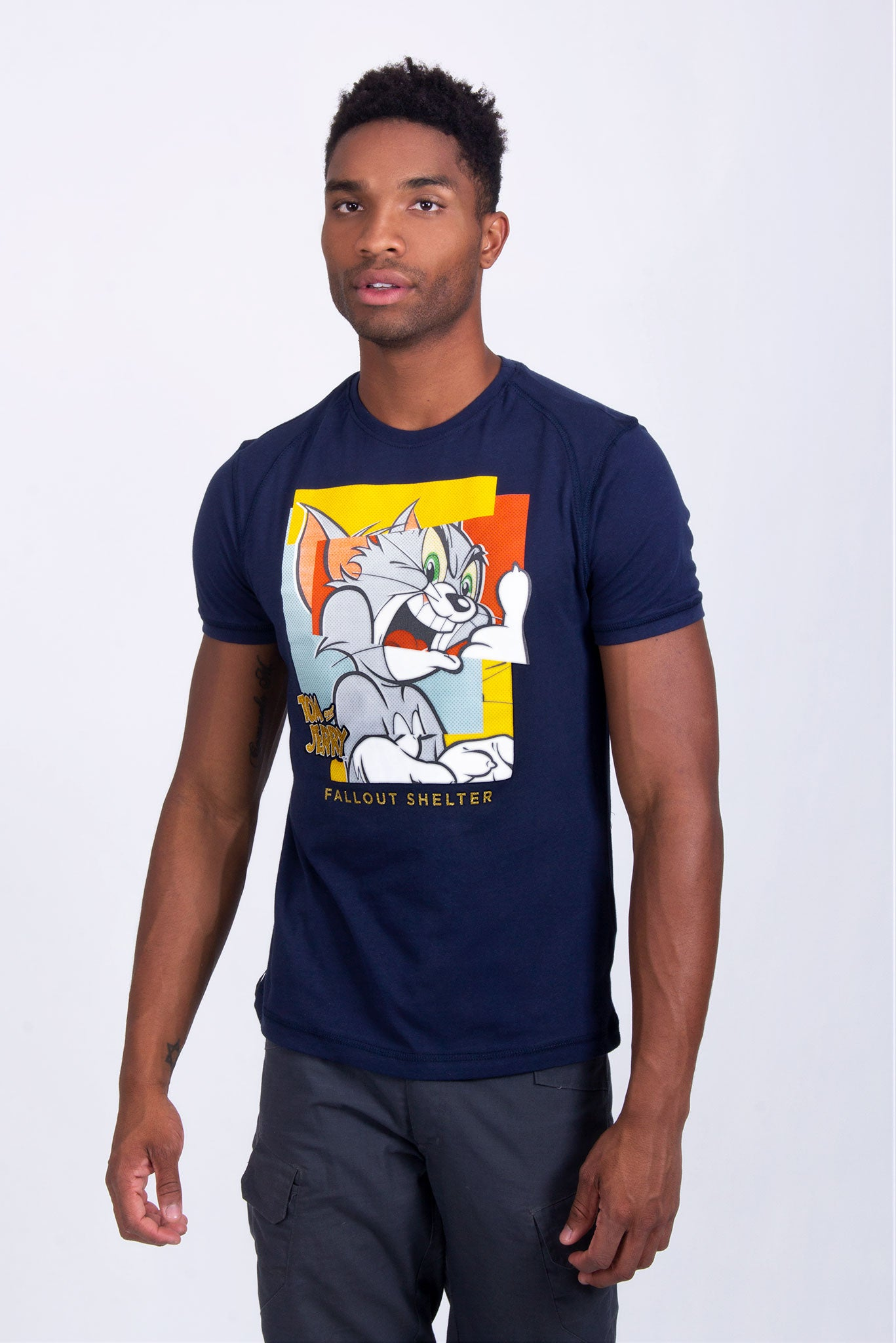 Warner Bros Playera Tom And Jerry Marino Hombre