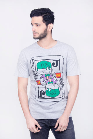 Dc Comics Playera The Joker Chibi Gris Hombre