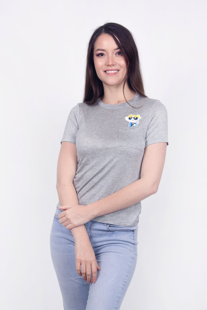 Cartoon Network Playera Burbuja Gris Mujer