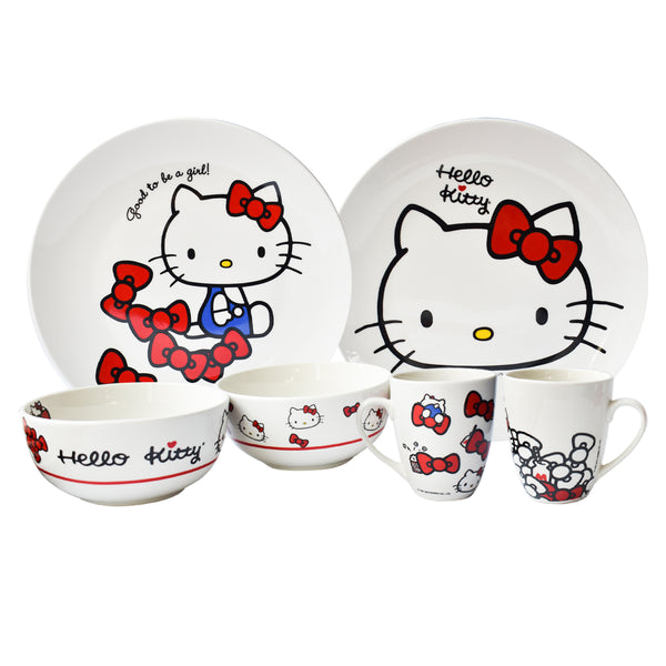 Hello kitty Vajilla de porcelana de Hello Kitty blanca