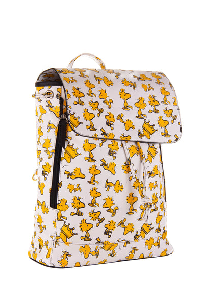 Peanuts Mochila de Woodstock color blanco.