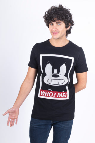 Disney Playera de Mickey Mouse Who? Me! Negro de Hombre