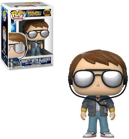 Funko POP! Movies Back To The Future Marty With Glasses 958