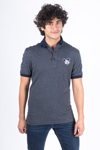 Disney Playera Polo de Mickey Mouse Oxford Hombre