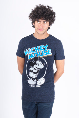 Disney Playera de Mickey Mouse Color Azul de Caballero