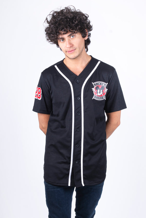 Disney Jersey de Mickey Mouse color Negro de Hombre