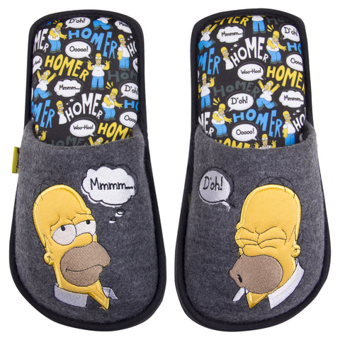 The simpsons Pantuflas Homero Simpson Gris