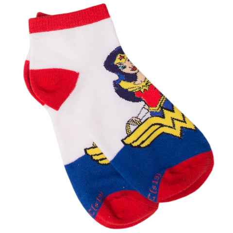 DC Comics Calcetines Wonder Woman Toon Blanco- Azul- Rojo