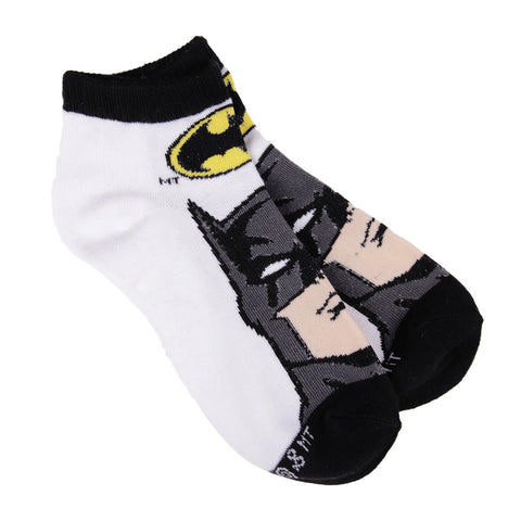 DC Comics Calcetines Batman Face Blanco- Negro