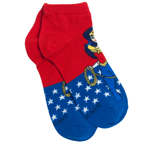 DC Comics Calcetines Wonder Woman Rojo- Azul Rey