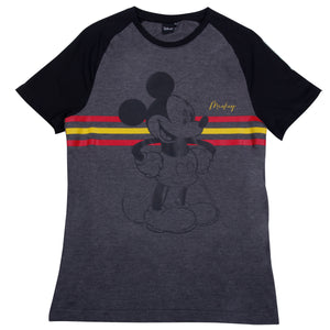 Disney Playera de Mickey Mouse Oxford- Negro Hombre
