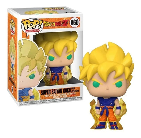 Funko POP! Animation Dragon Ball Z Super Saiyan Goku First Appearance 860
