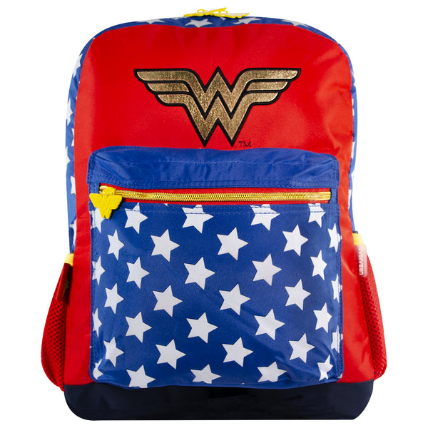 DC Comics Mochila Wonder Woman Logo color Rojo con Azul