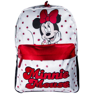 Disney Mochila de Minnie Mouse color Blanco con Rojo