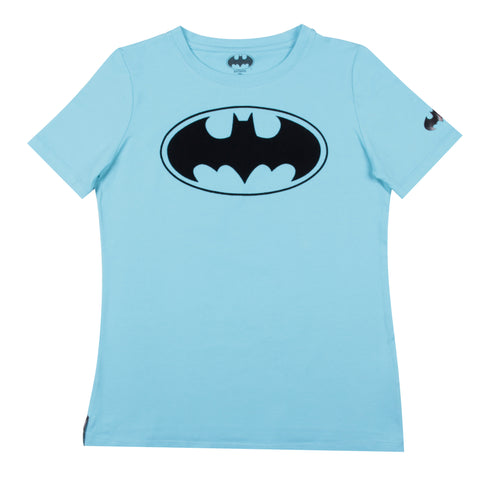 Blusa Batman Flock Blue