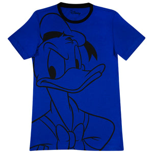 Disney Playera de Pato Donald Color Azul de Caballero