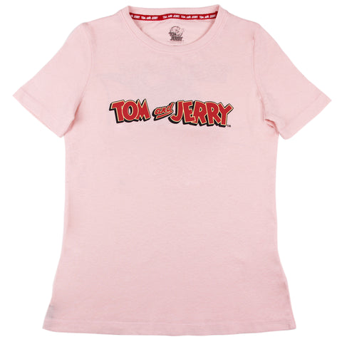 Playera Tom and Jerry Rosa