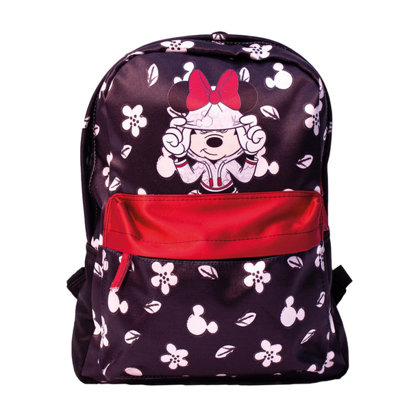 Disney Mochila de Minnie Mouse Dots color Negro con Rojo