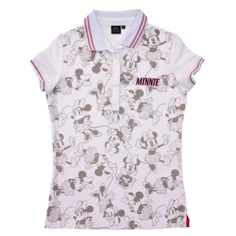 Playera Tipo Polo Minnie