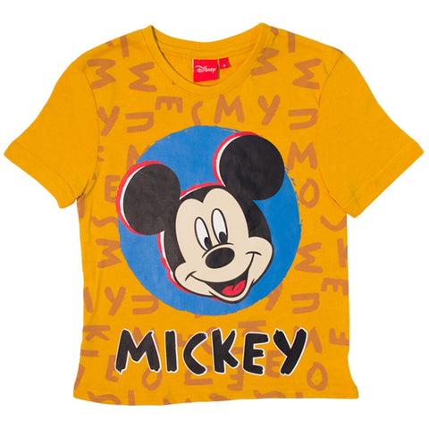 Playera Mickey letras