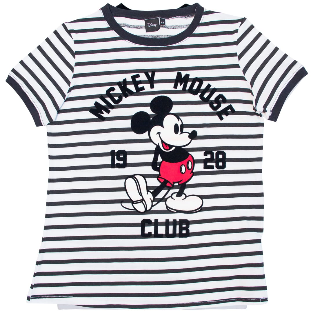 Blusa Mickey Mouse Club 1928 blanco