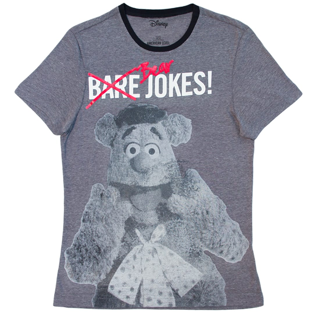 Disney Playera de Fozzie Color Gris de Caballero