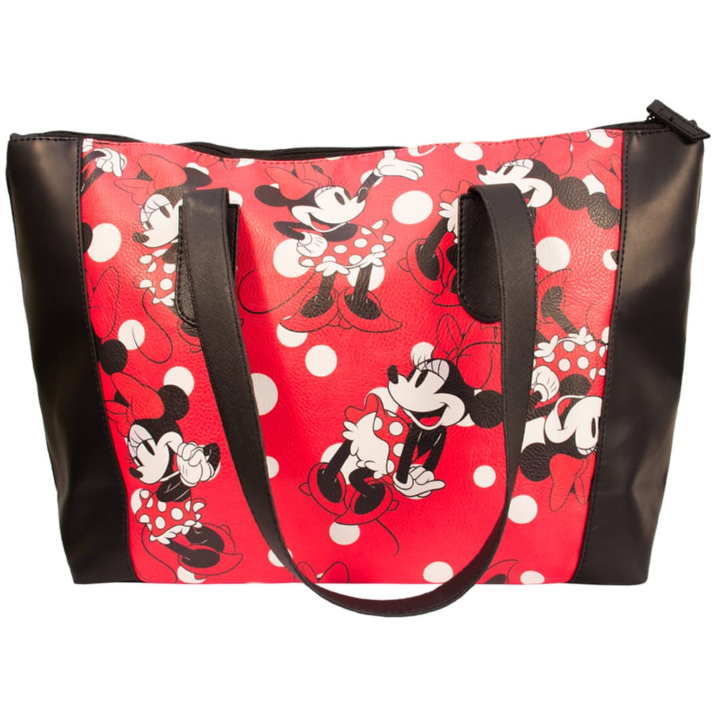 Disney Bolsa de mano de Minnie Mouse Color Negro con Rojo