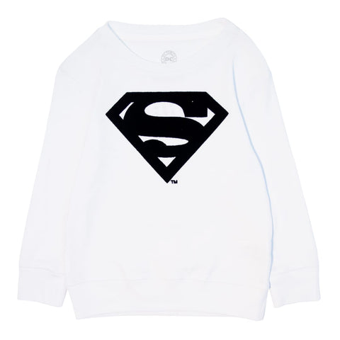 Sudadera Superman Flock Blanco