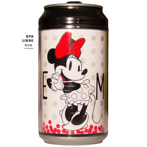 Disney Termo Lata 354ml Minnie Mouse Blanco- Negro